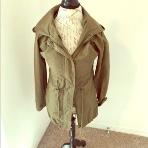 Army green utility anorak jacket